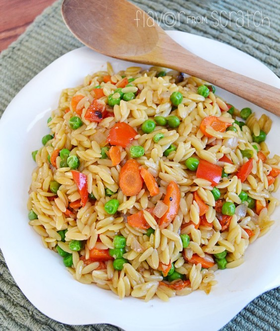 Roasted Vegetable Asian Orzo Recipe