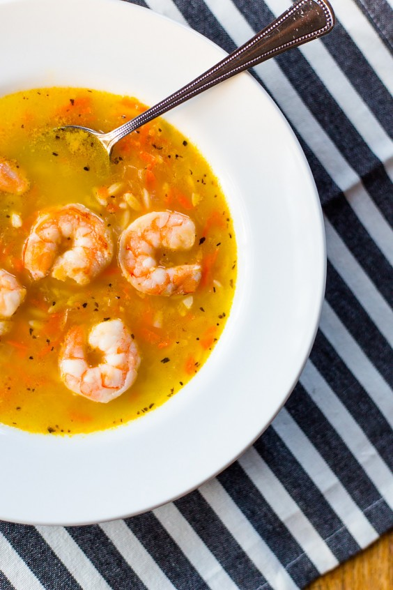 Lemon Orzo Soup With Shrimp Recipe