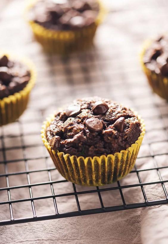 Low Carb Chocolate Zucchini Muffins Recipe
