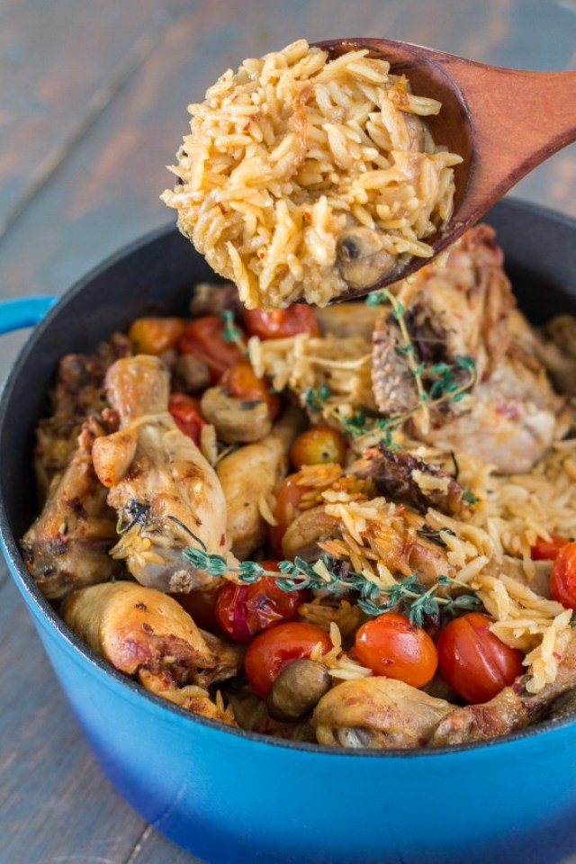 9. Baked Chicken and Orzo