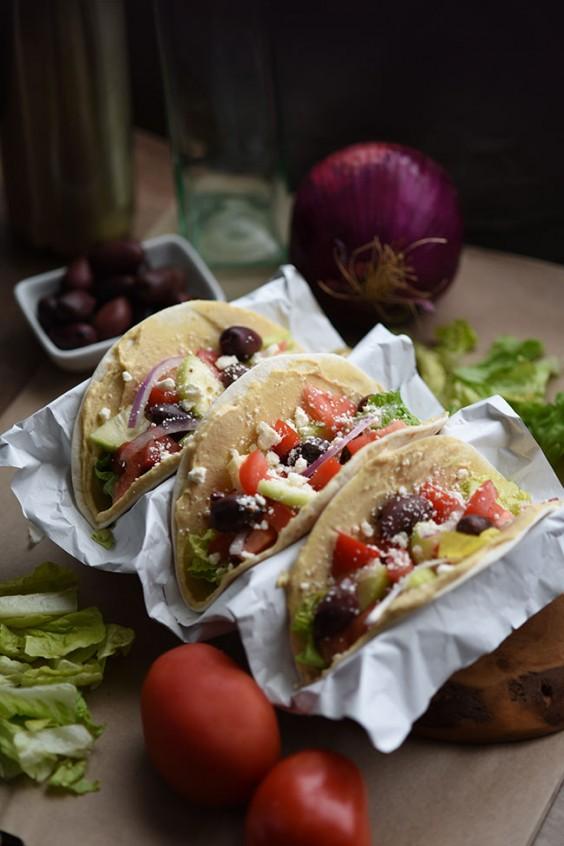 Mediterranean Veggie Tacos Recipe