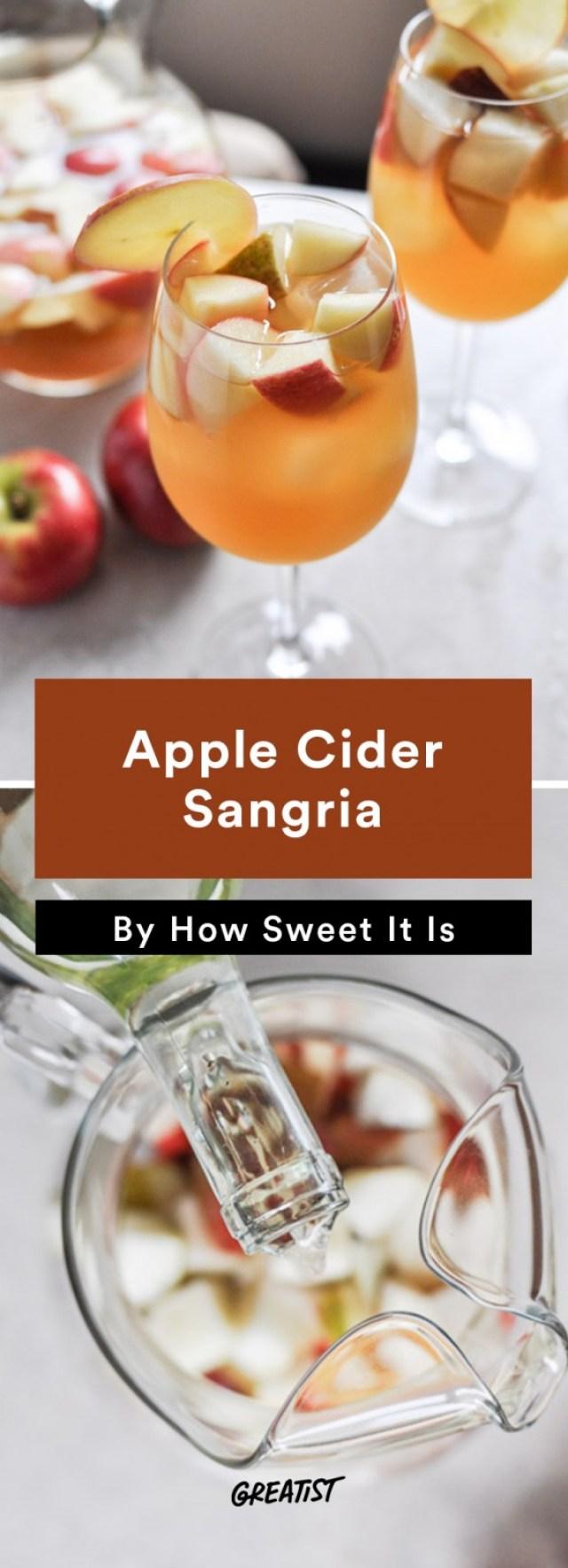 apple cocktails: Apple Cider Sangria