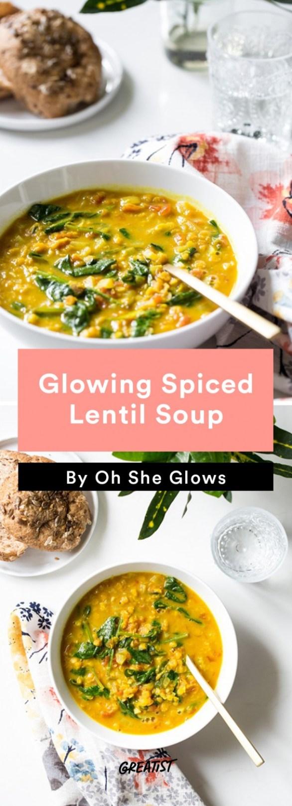 oh she glows bowl: Lentil Soup