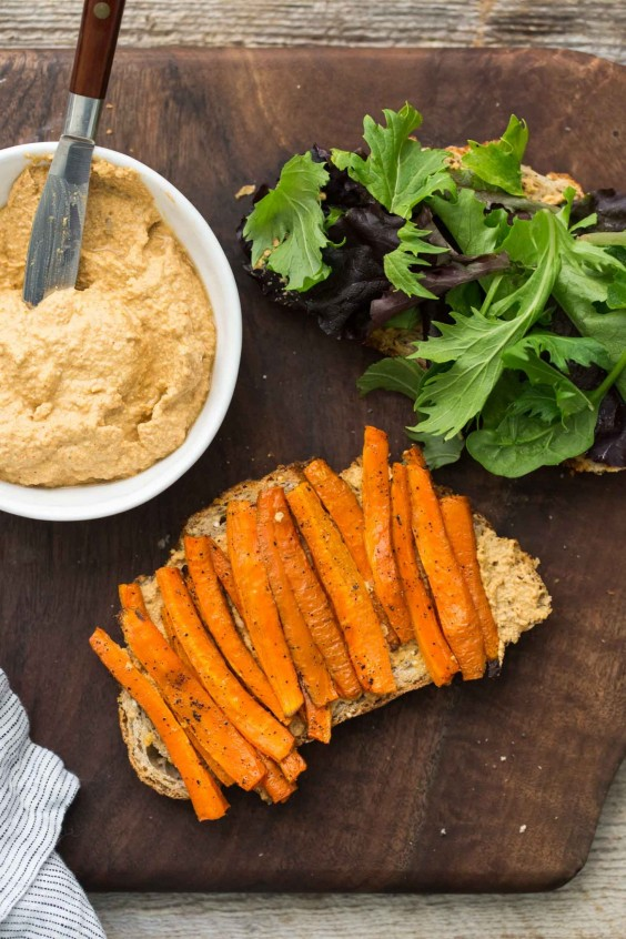 Roasted Carrot Sandwich With Sunflower Cream Recipe