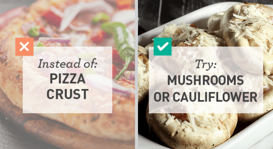 Simple Swaps for Lower Carbs: Mushroom or Cauliflower Pizza Crust