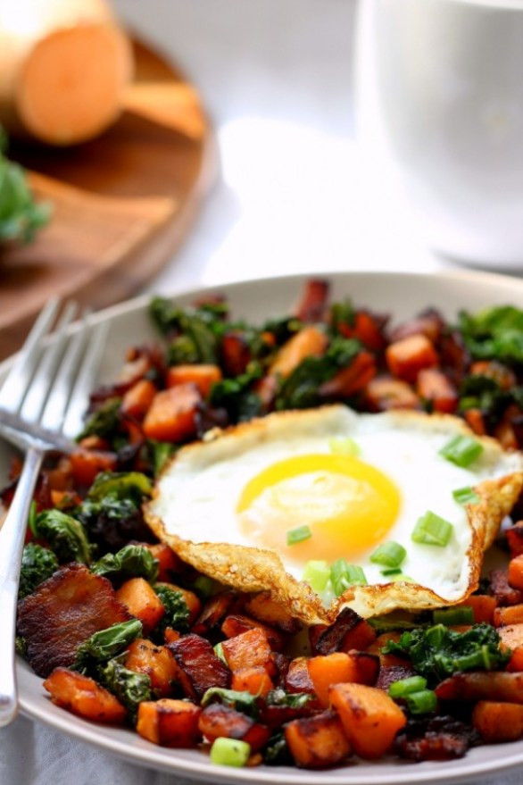 Sweet Potato Kale Hash Recipe