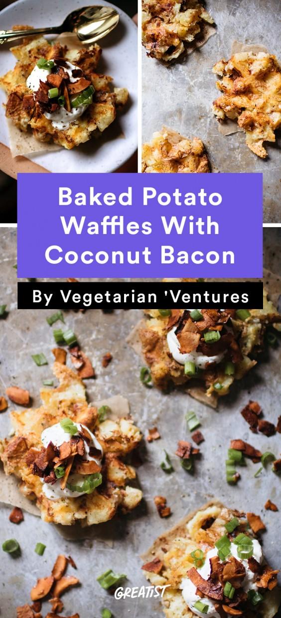 Vegetarian Ventures roundup: Baked Potato Waffles