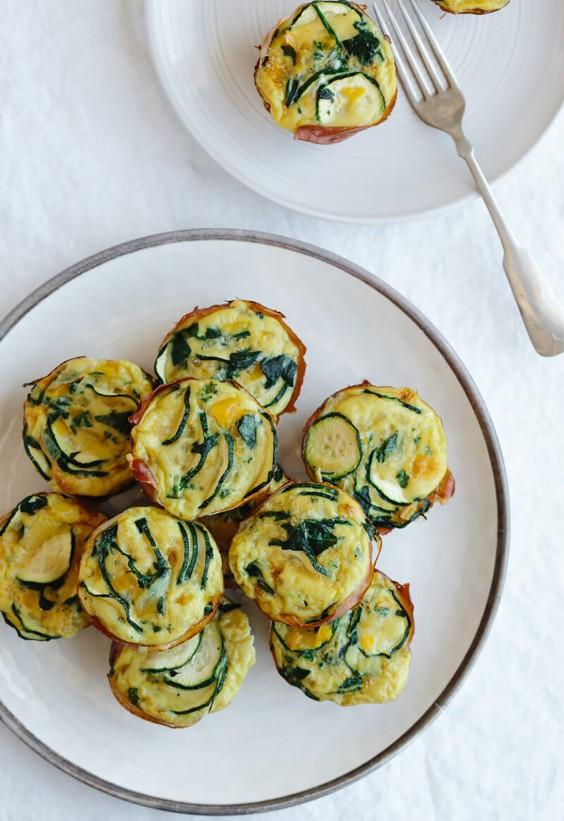 Zucchini and Prosciutto Egg Muffins Recipe