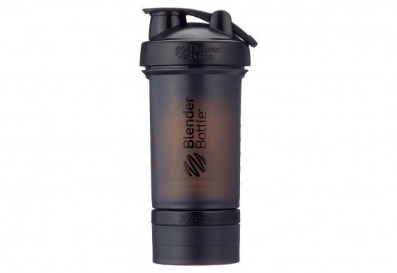 Blender Bottle with storage compartment