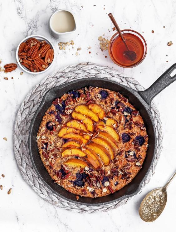 Blueberry Nectarine Baked Porridge Recipe