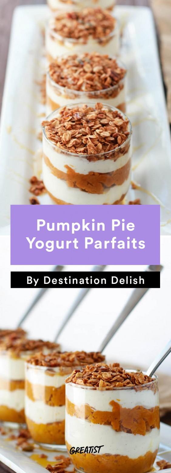 Destination Delish: pumpkin parfait