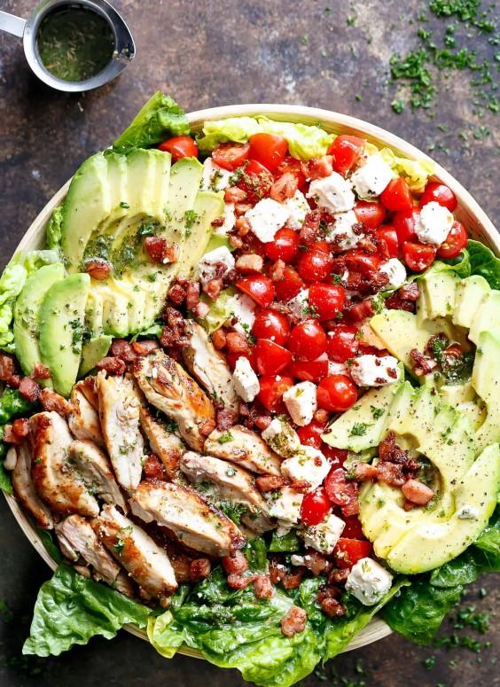 Lemon Herb Avocado Chicken Salad Recipe