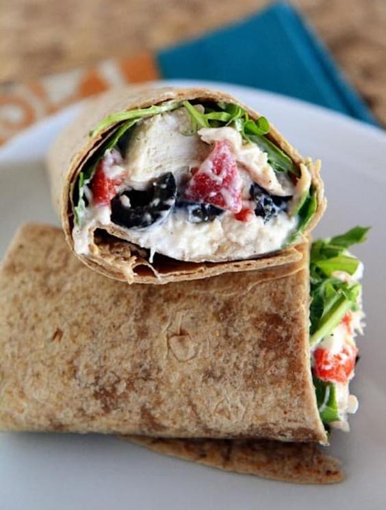 Mediterranean Chicken Wraps Recipe