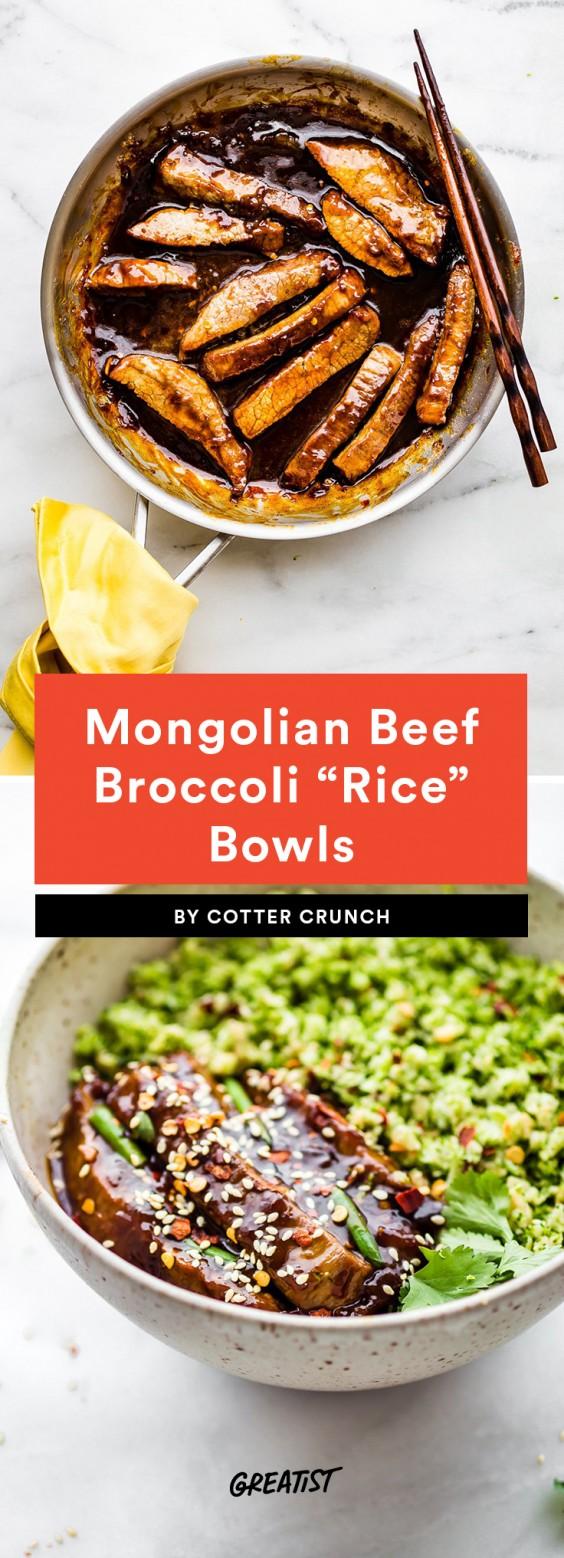 mongolian beef bowl