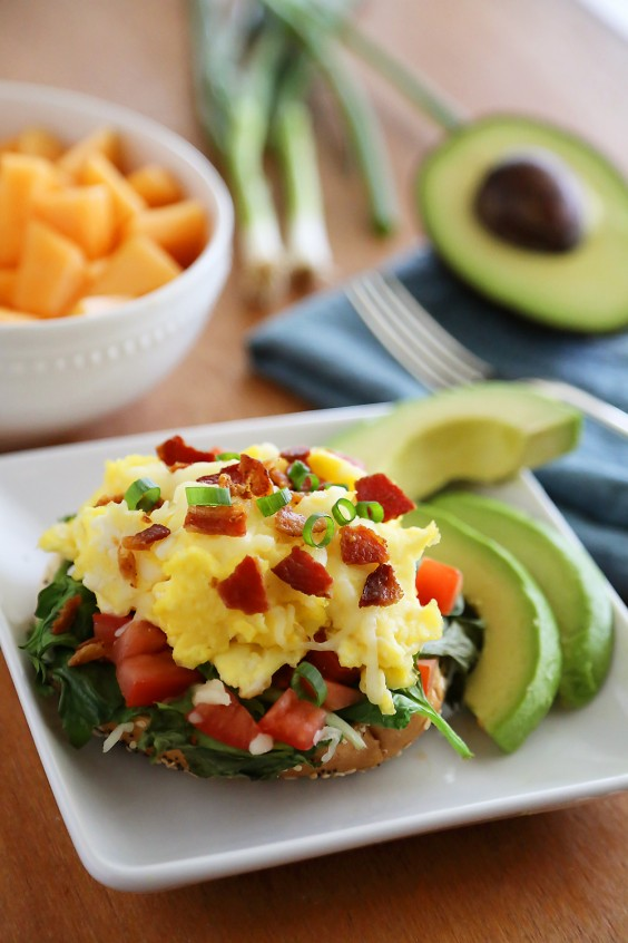 Open-Faced Breakfast Sandwich