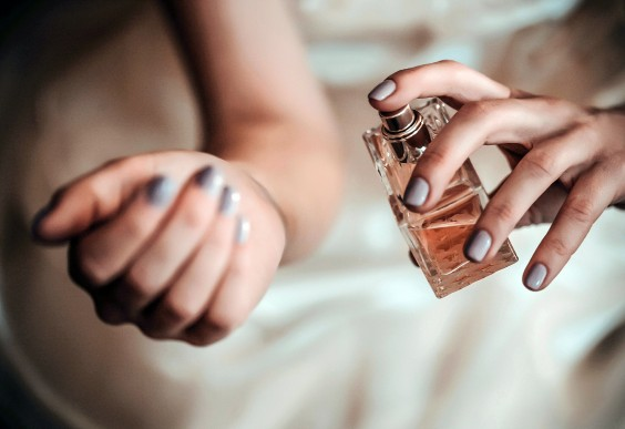 Image result for putting perfume on wrist