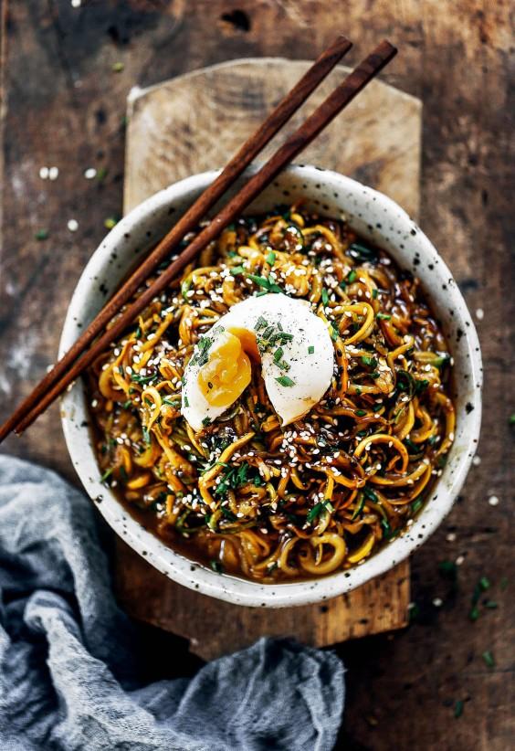 Balsamic Glazed Asian Zucchini Noodles Recipe