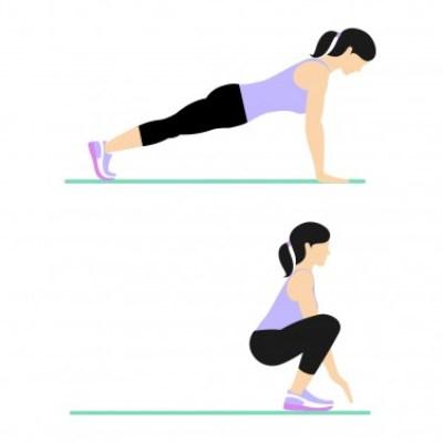 7 Min Workout: Squat thrust