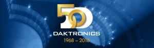 Daktronics 50 years of service logo