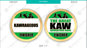 image of front and back of challenge coin