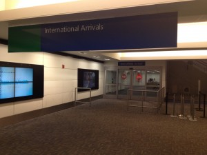 Image of location near where Detroit CBP seized cash (counterfeit) at Detroit Metro Airport (DTW).