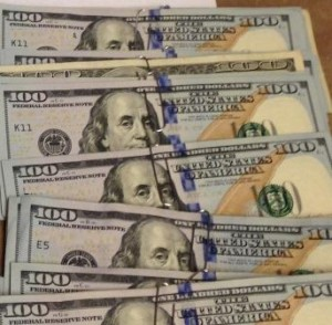 Currency seized for failure to properly report an aggregate amount exceeding $10,000.