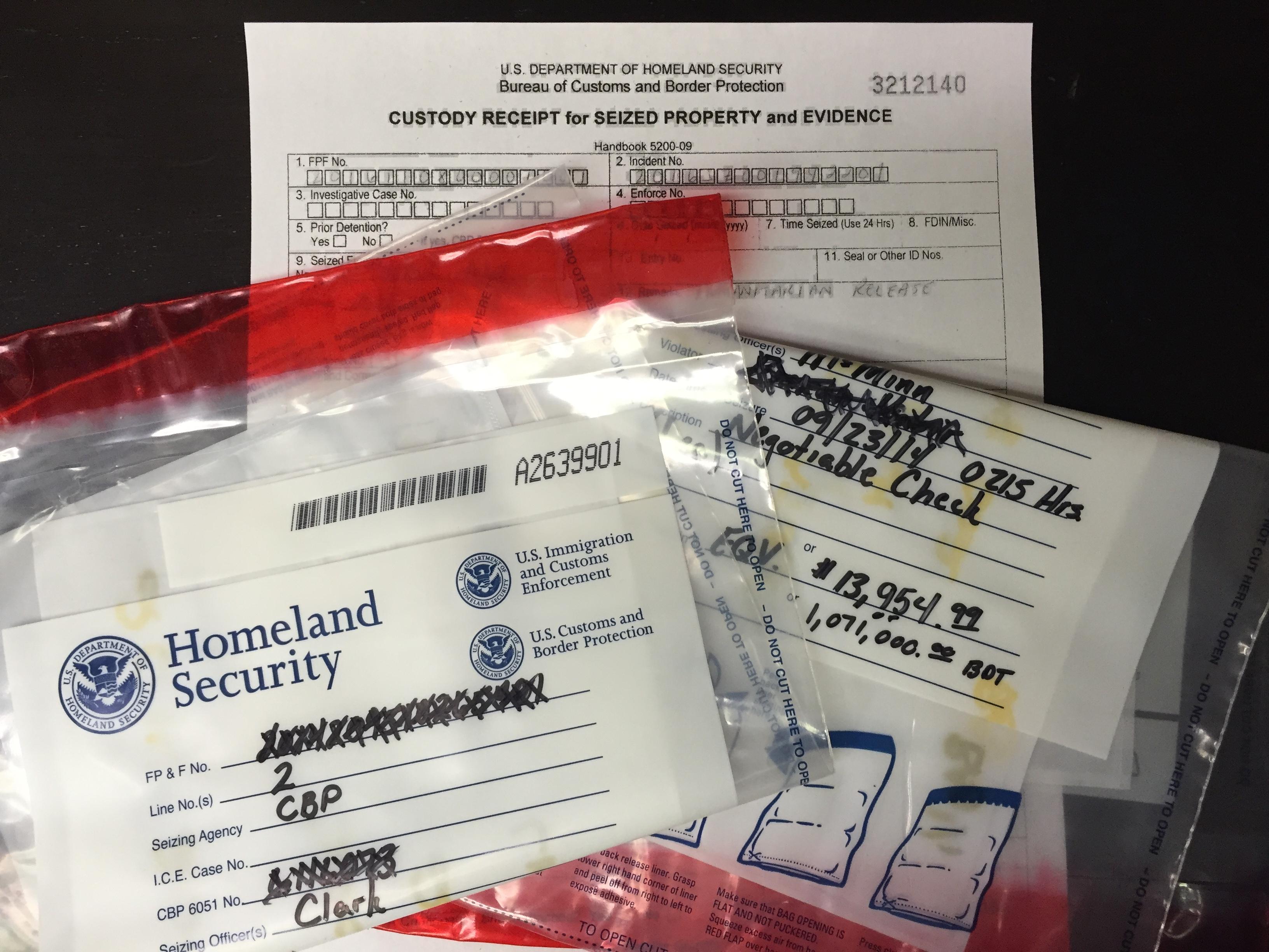 Responding to a Cash Seizure Custody Receipt - Great Lakes
