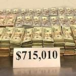 Pile of $715,010 in Cash Seized by CBP
