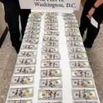 $44000 Seized by Dulles CBP on Display