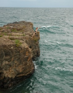 Black Rock Cliff Jumping : black, cliff, jumping, Unspoken, Tradition:, Cliff, Jumping, Marquette's, Blackrocks, Great, Lakes