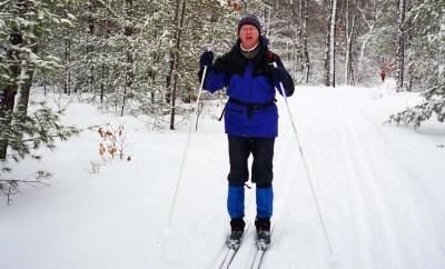 Enjoying XC Skiing