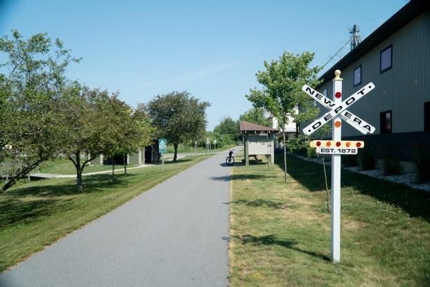 Bike trail in New Era
