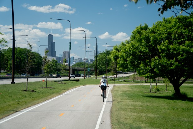 Bike Ride on the Chicago's Lakefront Trail