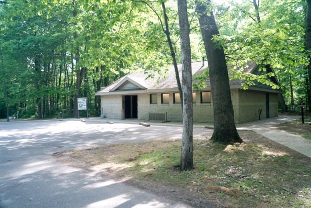 Restrooms in Warren Woods campground