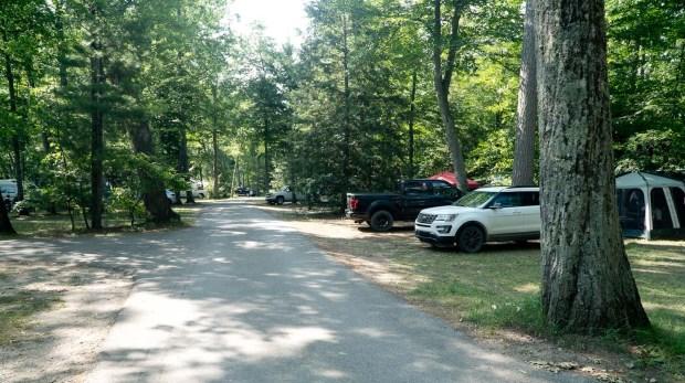 Camping in a Popular Interlochen State Park