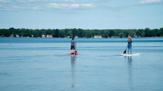 Paddling on Green Lake