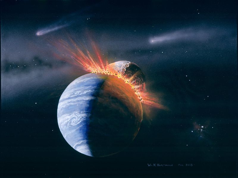 Life on Earth came from an impact with another planet, scientists claim