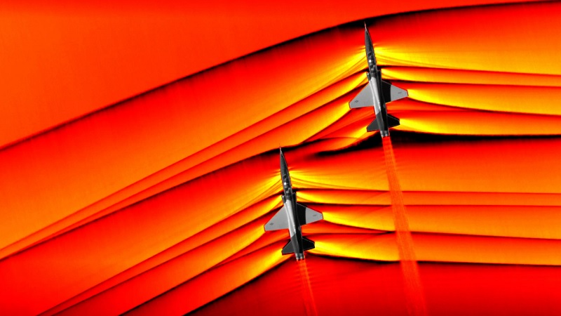NASA captures 'first' images of supersonic shock waves colliding in flight