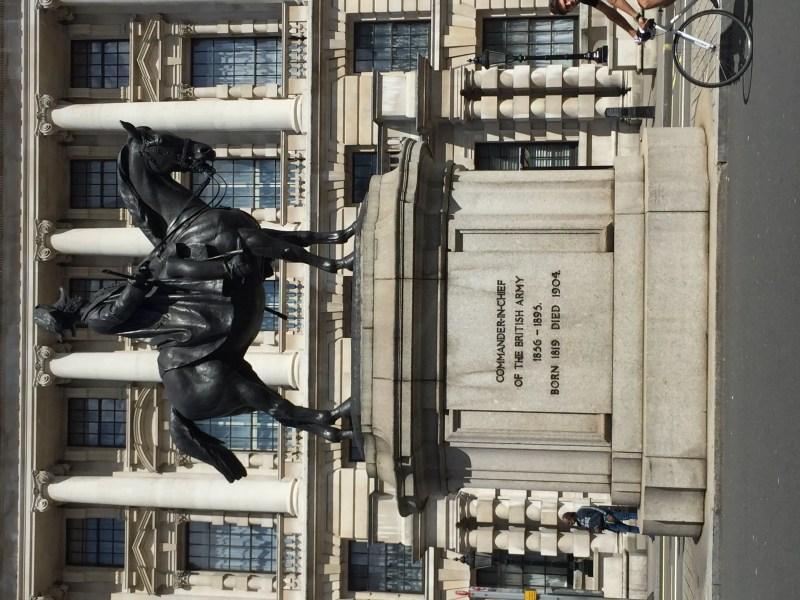 Walking along Whitehall, London