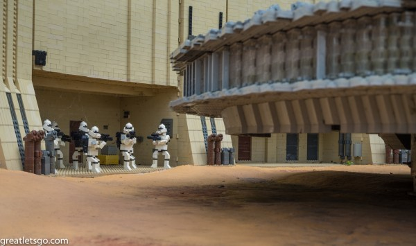 Storm Troopers guarding the Falcon