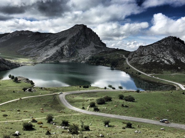 Lake Ercina at top of Pico de Europa - Asturias, Spain
