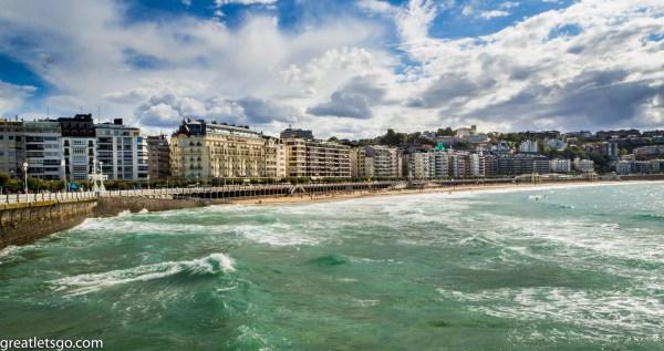 Walk along the boardwalk in San Sebastián, Spain. Beautiful, Isn't it?!