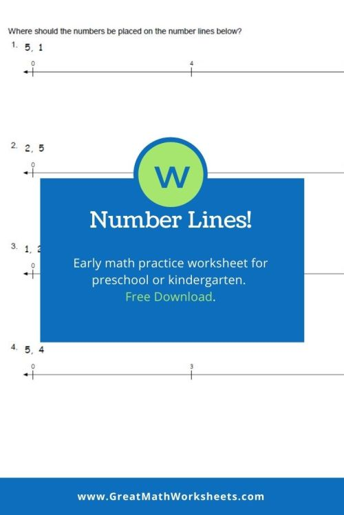 small resolution of Number Line Math Activity for Kids - Great Math Worksheets