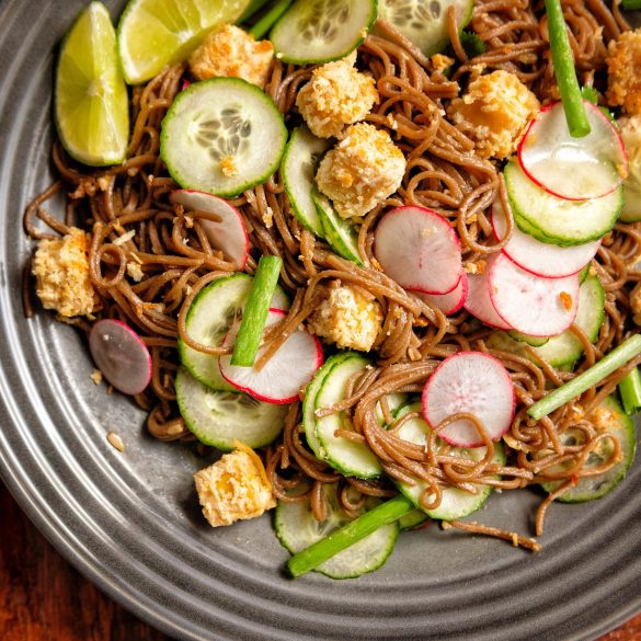 Sweet and Spicy Tofu with Soba Noodles