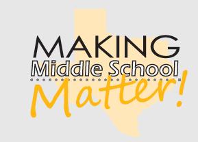 Making Middle School Matter Workshop