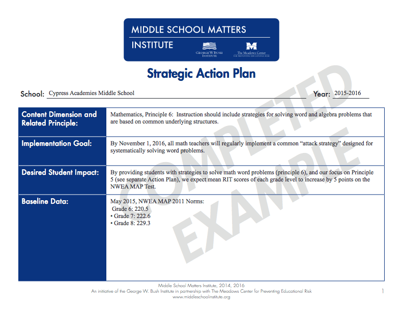 Action Plan Templates Pdf And Fixable Forms From Middle School Matters
