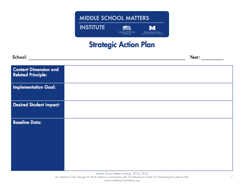 Action plan templates pdf and fixable forms from middle school action plan template pronofoot35fo Images