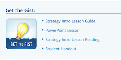 Get the Gist reading strategy - Middle School Matters Institute