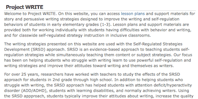 Writing Strategies And Self Regulated Strategy Development Middle