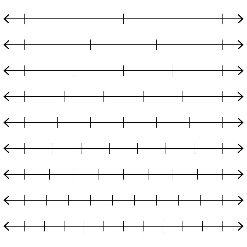 medium resolution of Unforgettable printable fraction number line – Mason Website
